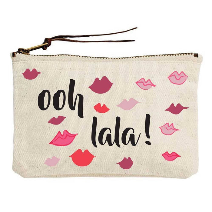 Ooh Lala Lips Canvas Pouch - Party, Girl!