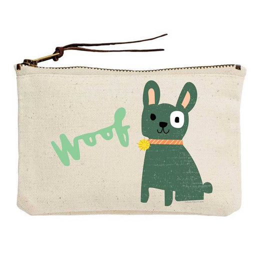 Woof Doggy Canvas Pouch - Party, Girl!