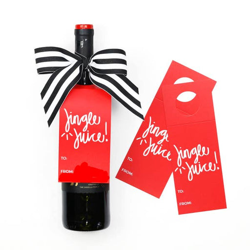 Jingle Juice Wine Tags - A Wine & Spirits Gift Kit- Box of 3 - Party, Girl!