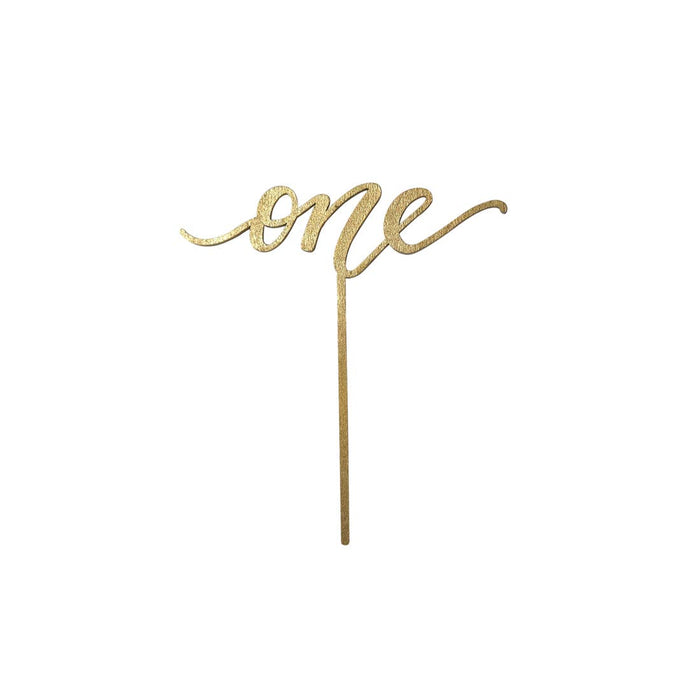 One Cake Topper - Gold - Party, Girl!