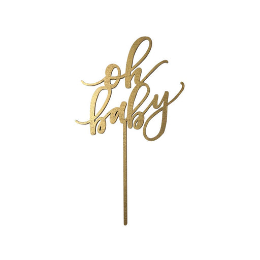 Oh Baby Cake Topper - Gold - Party, Girl!