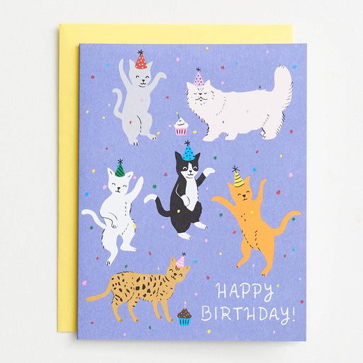 Cat Birthday Party A2 Single Card - Party, Girl!
