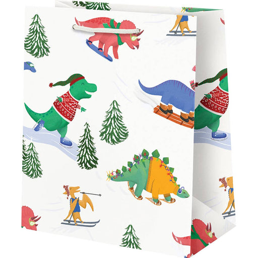 Medium Extreme Winter Dinos Gift Bag - Party, Girl!
