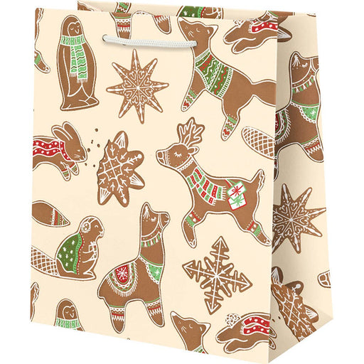 Medium Gingerbread Critters Gift Bag - Party, Girl!