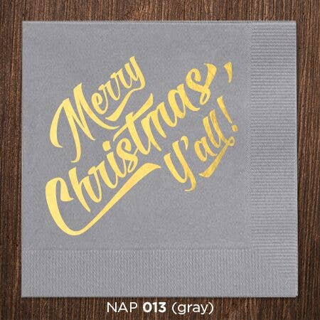 Merry Christmas Y'all Napkins - Party, Girl!