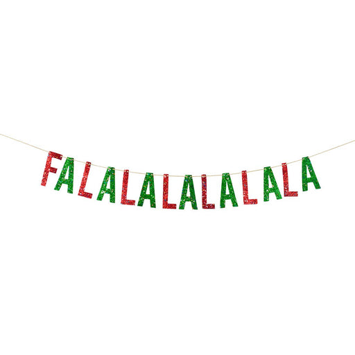 Falalalalalala Artisan Banner - Red & Green - Party, Girl!