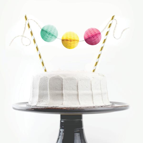 Birthday Brights Cake Topper - Party, Girl!