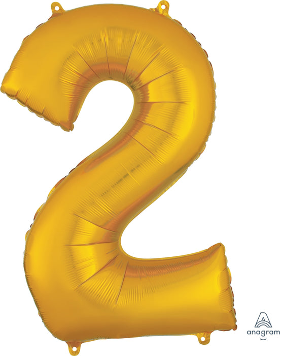 Oversized Number Balloons Gold - Party, Girl!