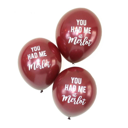 Merlot Latex Balloons - Party, Girl!