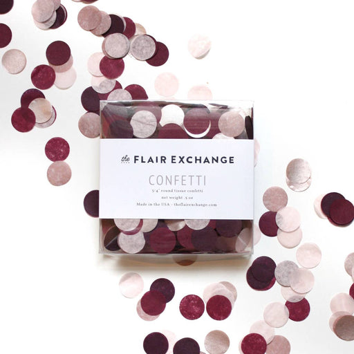 "Burgundy and Pink ""Sultry"" Hand-Cut Confetti - Party, Girl!"
