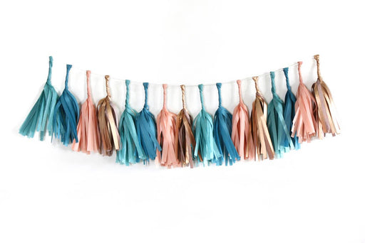 "Teal and Gold ""Pueblo"" Tassel Garland Kit - Party, Girl!"
