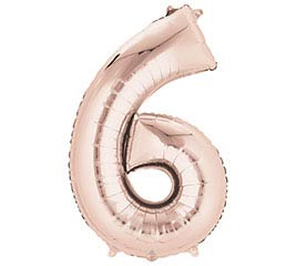 Oversized Number Balloons Rose Gold - Party, Girl!