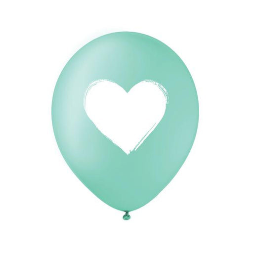 Teal White Heart Balloon - Set of 3 - Party, Girl!