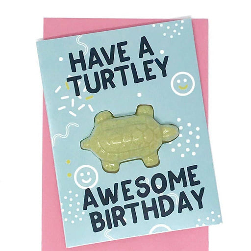 Have a Turtley Awesome Birthday Bath Card - Party, Girl!