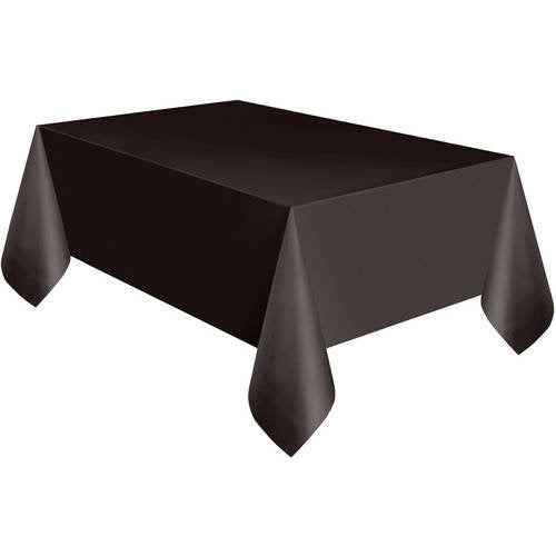 Black Plastic Table Cover - Party, Girl!
