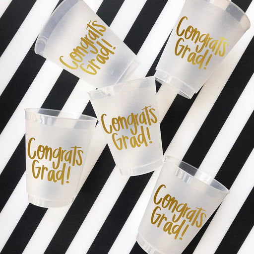 Congrats Grad Frosted Shatterproof Cups - Party, Girl!