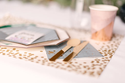 Gold Confetti Paper Placemats by Hester & Cook - Party, Girl!