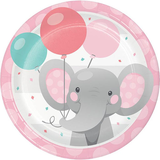 Enchanting Elephant Plates - Blue and Pink - Party, Girl!