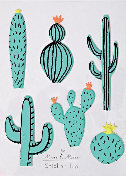 Cactus Puffy Stickers - Party, Girl!