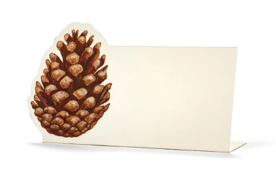 Pinecone Place card--Pack of 12 - Party, Girl!