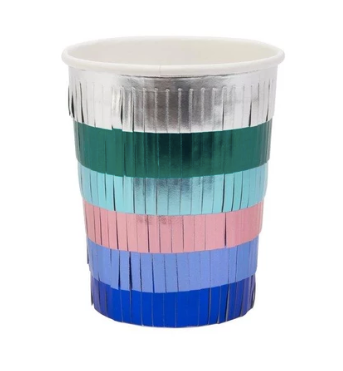Metalic Fringe Party Cups - Party, Girl!