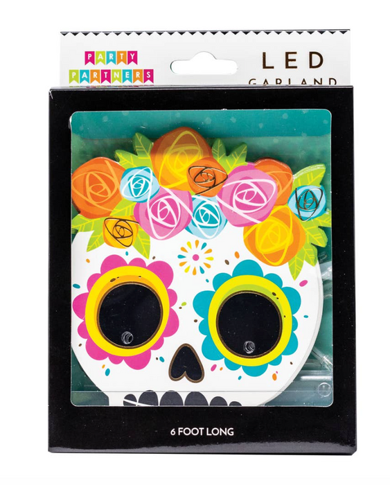 Candy Skull LED Garland - Party, Girl!