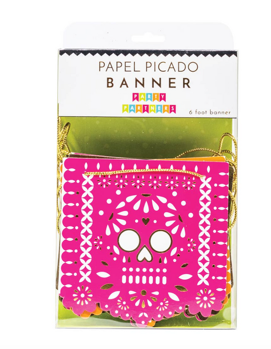 Candy Skull Paper Banner - Party, Girl!