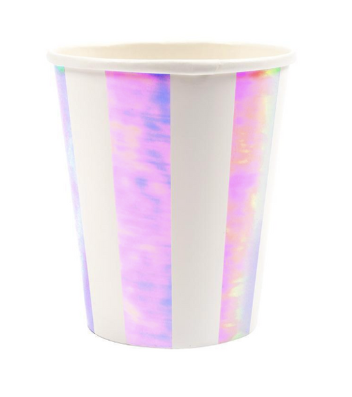 Iridescent Stripe Cups - Party, Girl!