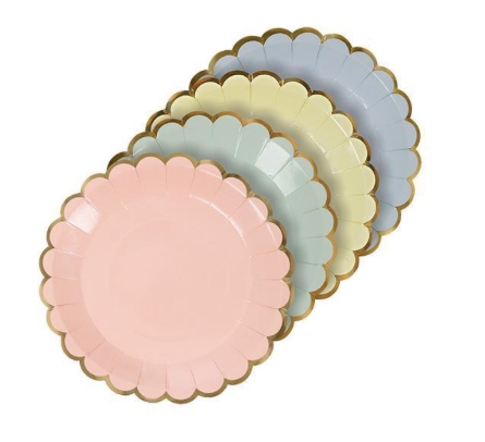 Pastel Canape Plates - Party, Girl!