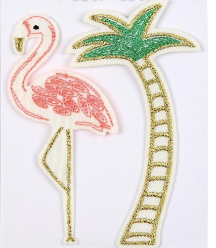 Flamingo & Palm Tree Patches - Party, Girl!