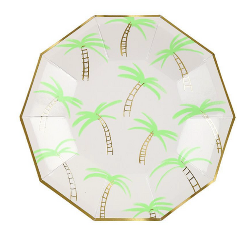 Palm Trees Plates (Small) - Party, Girl!