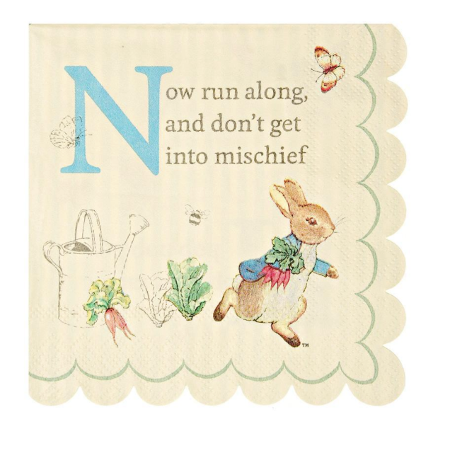 Peter Rabbit Small Napkins - Party, Girl!