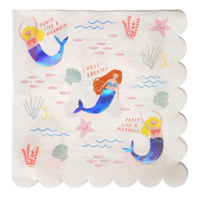Let's Be Mermaids Napkins (Large) - Party, Girl!