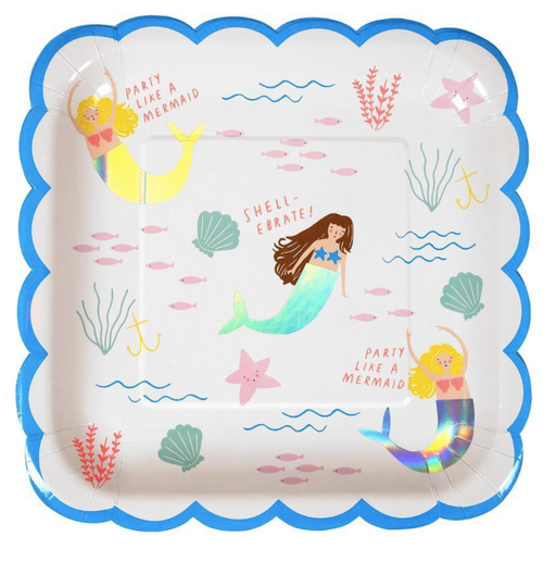 Let's Be Mermaids Plates (Large) - Party, Girl!