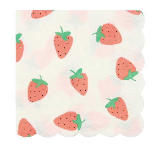 Strawberry Napkins - Party, Girl!