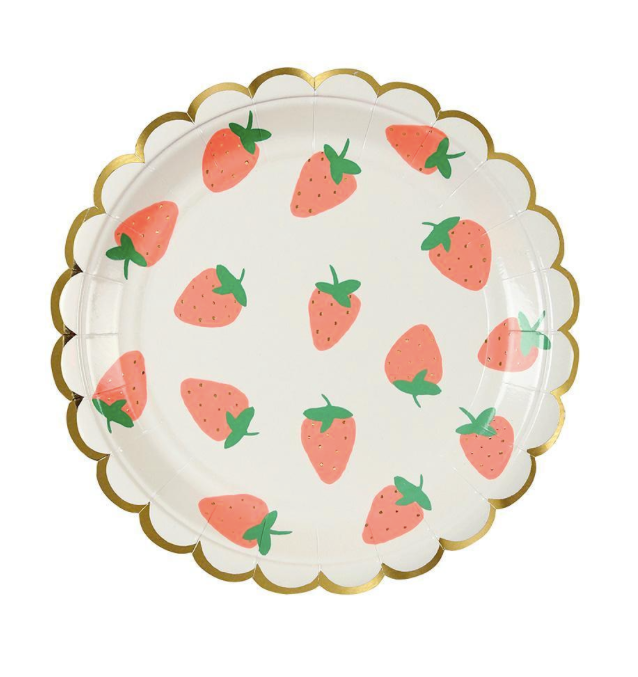 Strawberry Plates (Small) - Party, Girl!
