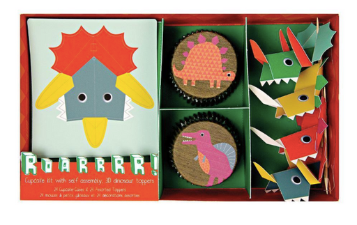 Pop-out Dinosaur Cupcake Kit