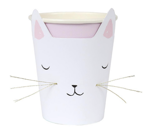 Cat with Whiskers Cups - Party, Girl!