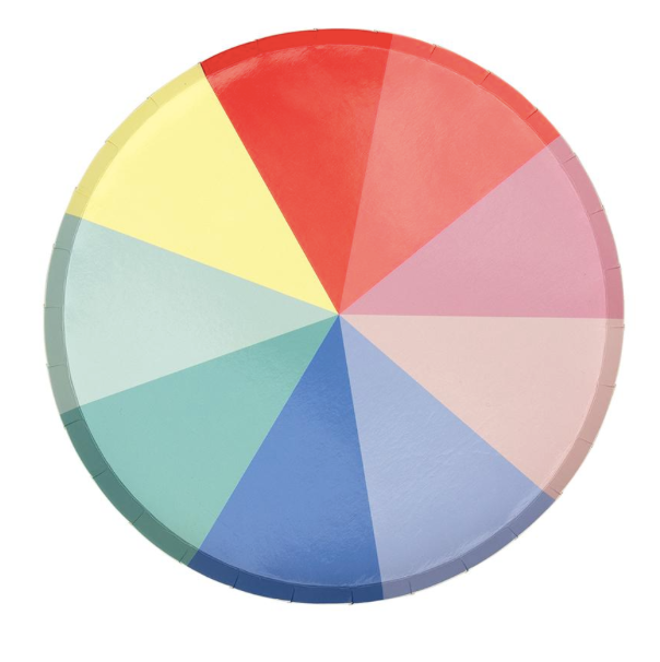 Color Wheel Side Plates - Party, Girl!