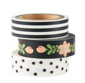 Black and White Washi Tape - Party, Girl!