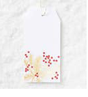 Red Berries and Gold Branches Foil Hang Tag - Party, Girl!