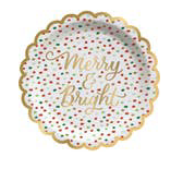 Merry and Bright Confetti Appetizer Plate - Party, Girl!