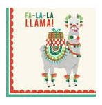 Fa-la-la Llama Cocktail Napkin - Party, Girl!