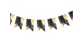 Brushstroke Noir Garland - Party, Girl!