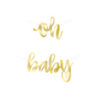Oh Baby Gold Foil Banner - Party, Girl!