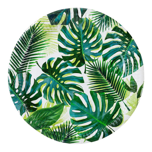 Tropical Fiesta Palm Leaf Paper Plates - Party, Girl!