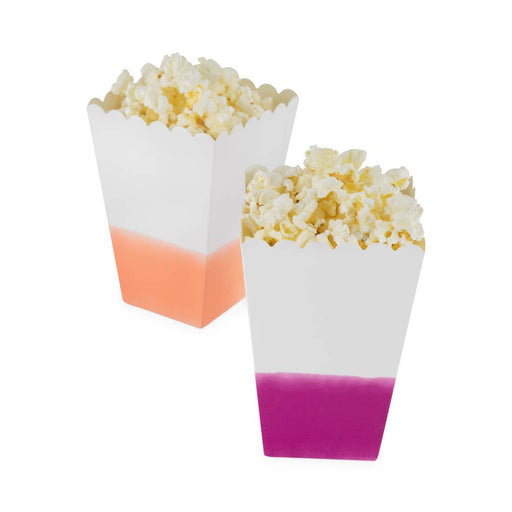 Assorted Dipped Paper Popcorn Bag Set of 8 - Party, Girl!