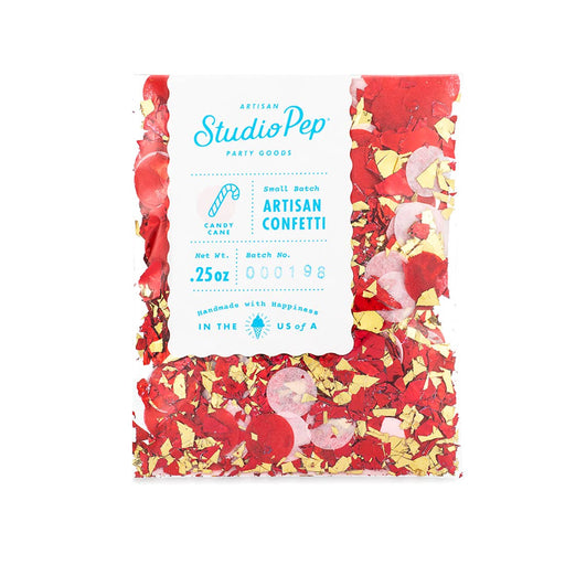 Candy Cane Artisan Confetti Mini Pack - Party, Girl!