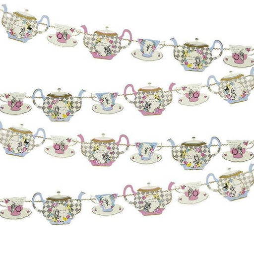 Truly Alice in Wonderland Teapot Bunting - Party, Girl!