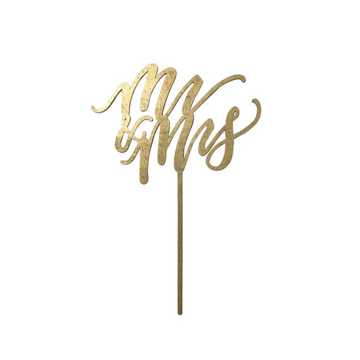 Mr & Mrs Cake Topper - Multiple Colors - Party, Girl!